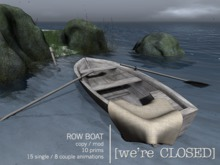 [we're CLOSED] row boat