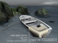 [we're CLOSED] row boat white