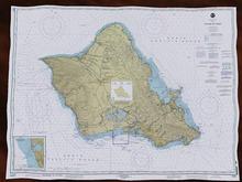 Island Of Oahu - NOAA Nautical Chart