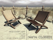 [we're CLOSED] deck chair light