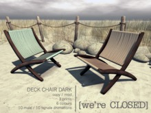 [we're CLOSED] deck chair dark