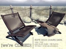 [we're CLOSED] rope deck chairs dark