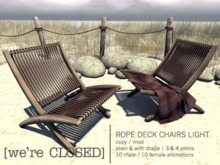 [we're CLOSED] rope deck chairs light