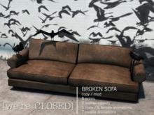 [we're CLOSED] broken sofa