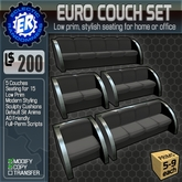 ER Euro Couch Set