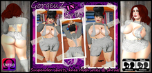 *GorgeouZ* Sexy in grey - suspender shorts and shrug - Classical + OMEGA applier for Belleza, Maitreya, Slink, Lena +++