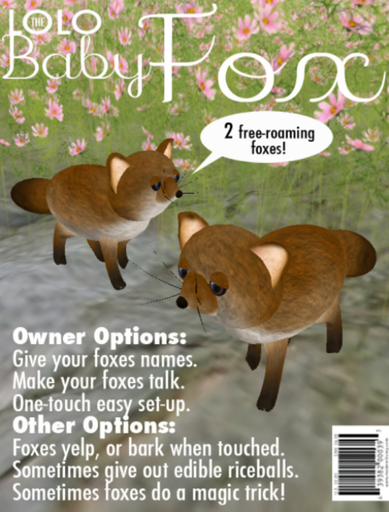 Foxes:  Animated Fox, Free-roaming. by LOLO pet shop