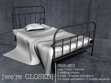 [we're CLOSED] iron bed