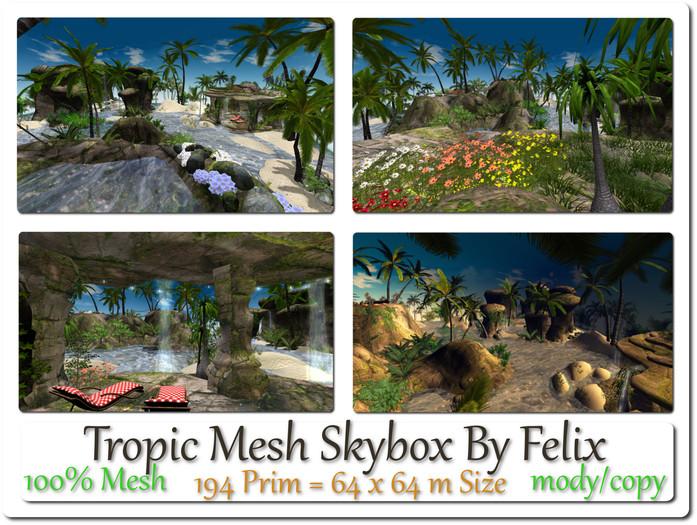 Mesh Tropic Skybox 194 Prim=64x64m Size copy-mody