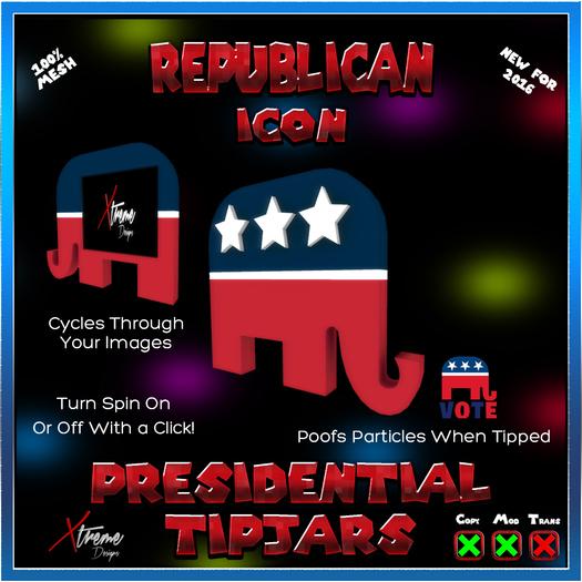 Republican Icon Tipjar - Election - President