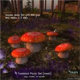 -Hanaya- Toadstool Picnic Set [mesh] DOLLARBIE