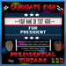 Presidential jars  candidate sign  ad