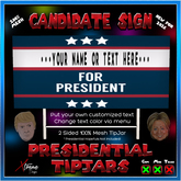 Campaign Sign TipJar - Election - President