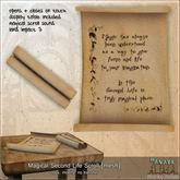 -Hanaya- Magical Second Life Scroll [mesh]
