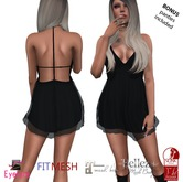 Eyelure T Back Dress    BLACK