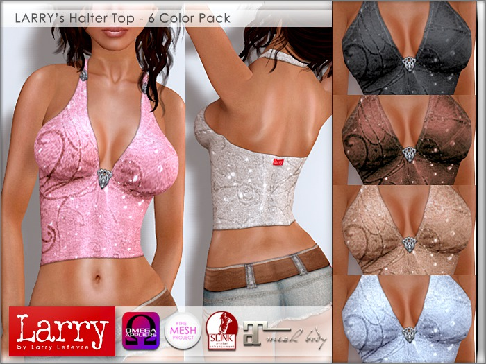 LARRY JEANS - Halter Top (6 Color Pack)