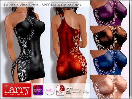 LARRY JEANS - Vine Dress (6 Color Pack)
