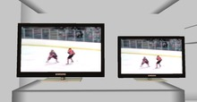 .::DAZED::. Mesh Animated Screen  TV.  ICE HOCKEY