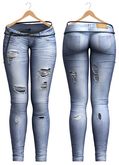 Blueberry - Pizza Mesh Ripped Jeans - Maitreya Lara, Belleza Freya Isis Venus, Slink Physique Hourglass - Light Blue