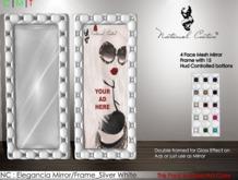 NC : Elegancia Mirror/Frame_Silver White