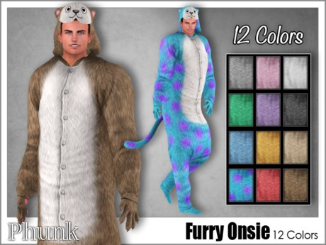 [Phunk] Furry Onsie (12 Colors)