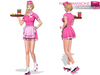 Full Perm CLASSIC RIG 5 SIZES | Full Perm Waitress Uniform