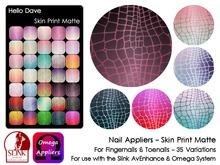 Hello Dave - Nail Appliers - Skin Print Matte