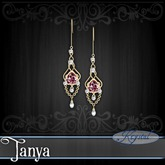 :::Krystal::: Tanya - Earrings - Gold - Rose