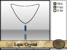 >^OeC^< Verus - Crystal Pendant (Lapis)