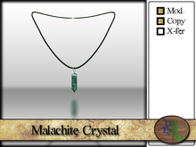 >^OeC^< Verus - Crystal Pendant (Malachite)