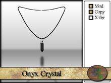 >^OeC^< Verus - Crystal Pendant (Onyx)