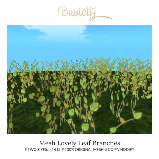 Bastet H > Mesh Lovely Leaf Branches