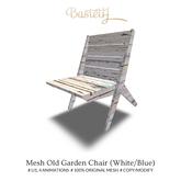 Bastet H > Mesh Old Garden Chair (White/Blue)