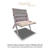 Bastet H > Mesh Old Garden Chair (White/Red)