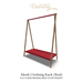 Bastet H > Mesh Clothing Rack (Red)