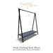 Mesh clothing rack blue basteth