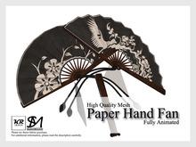 KR Design - Paper Hand Fan (Midnight)