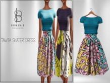 <*>B<*>Tawia Teal Skater Dress