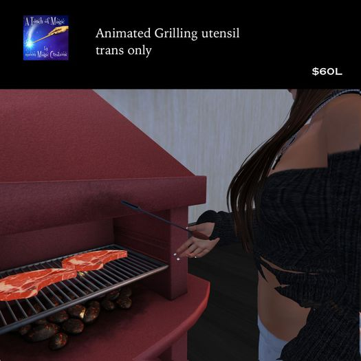 Grilling utensil wearable animated