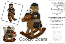 """Sway's Cookie Bear """"Horseman with Rocking Horse"""""""