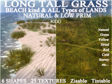 100 Beach Long Grass & all-Terrains-Able MEGA PACK * 25 Textures via menu * 6 Shapes * Trans Mod