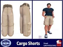 Dabble Dooya Mens SLINK Cargo Shorts-Khaki
