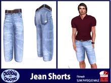 [DD]Mens Slink Jean Shorts-Carolina