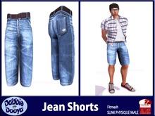 [DD]Mens Slink Jean Shorts-Cobalt