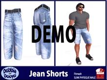 Dabble Dooya Mens Slink Jean Shorts-DEMOS