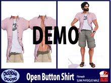 Dabble Dooya Mens Slink Open Button Shirt Demos