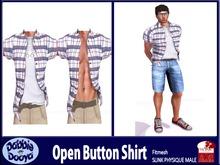 Dabble Dooya Mens Slink Open Button Shirt-Murica