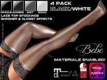 Bebe Stockings Risque w/ BOM & Materials Black 4-Pack