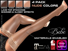 Bebe Stockings Risque w/ BOM & Materials Nude 4-Pack