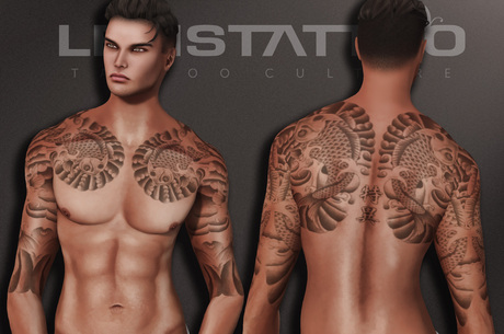 Letis Tattoo :: Koi :: Tattoos Bakes On Mesh & Legacy Signature and more Appliers